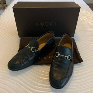Gucci classic horsebit leather loafers